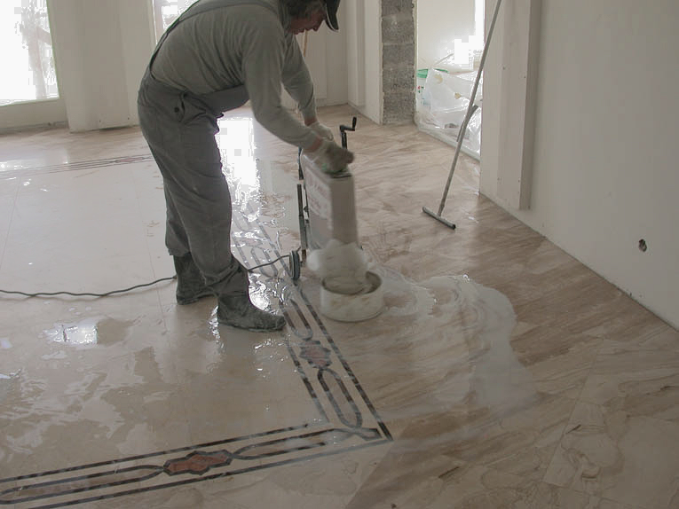 RE-POLISHING OF MARBLE AND GRANITE
